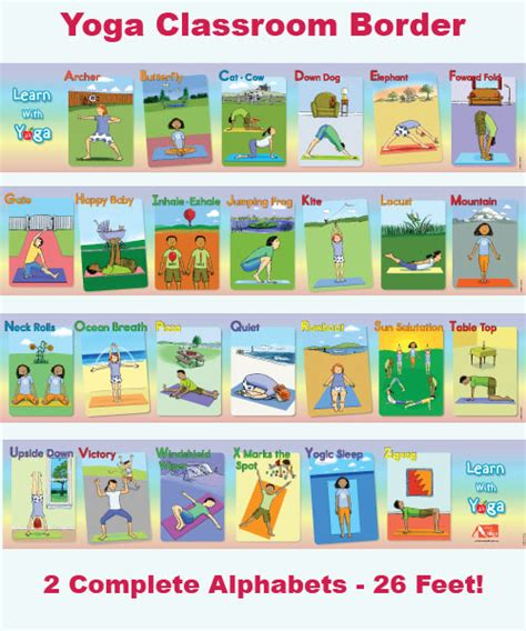 Learn With Yoga Abc Classroom Border For Kids