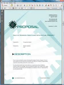 sale of business and assets sample proposal
