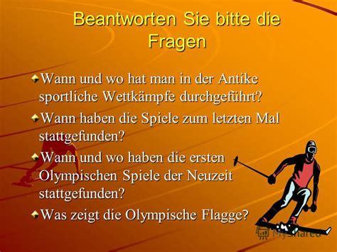 wann begann die neuzeit презентация на тему quot olympische spiele sport treiben