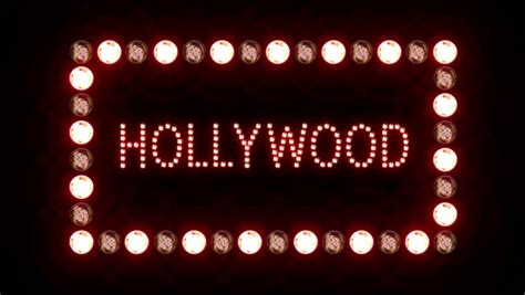 flashing lights for signs hollywood sign with a border of flashing lights on a black