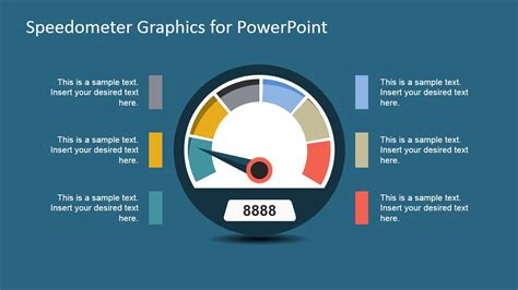 Vector Speedometer Graphics For Powerpoint Slidemodel Powerpoint Speedometer Template
