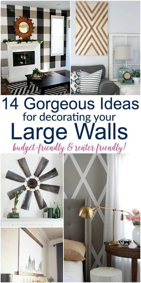 ideas for decorating your home large diy wall decor ideas lots of renter friendly