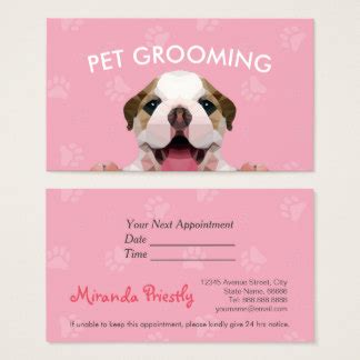 free grooming business card templates grooming business cards templates zazzle