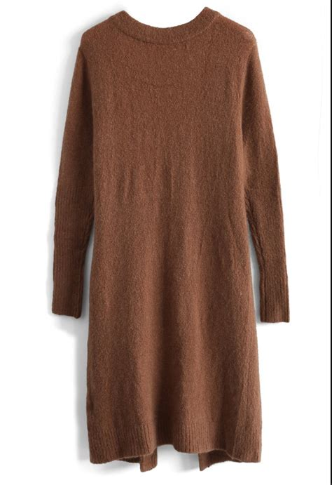 Cardigan Soft Brown laidback soft ribbed cardigan in brown retro and unique fashion