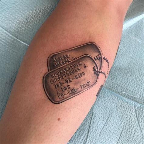 tattoo name tag best 25 dog tags tattoo ideas on pinterest army tattoos