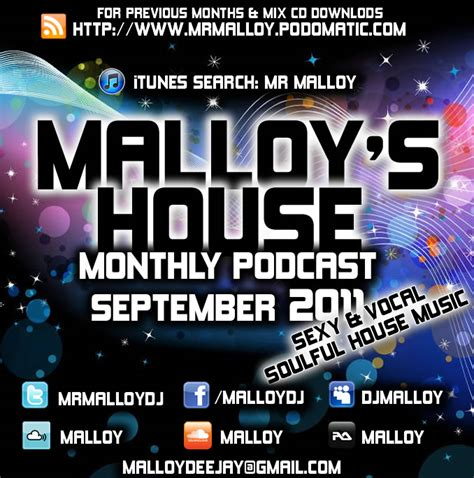 soulful house music podcast mr malloy september 2011 podcast sexy vocal soulful house music malloy s