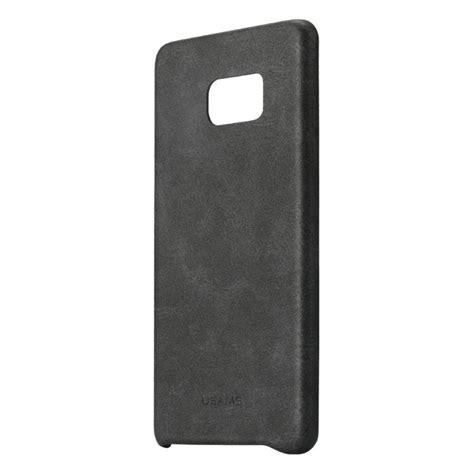 Backcase Samsung Note 7 usams leather back samsung galaxy note 7 black