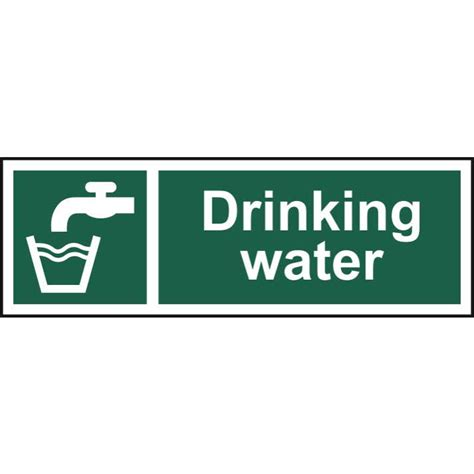 drinking water sign label ese direct