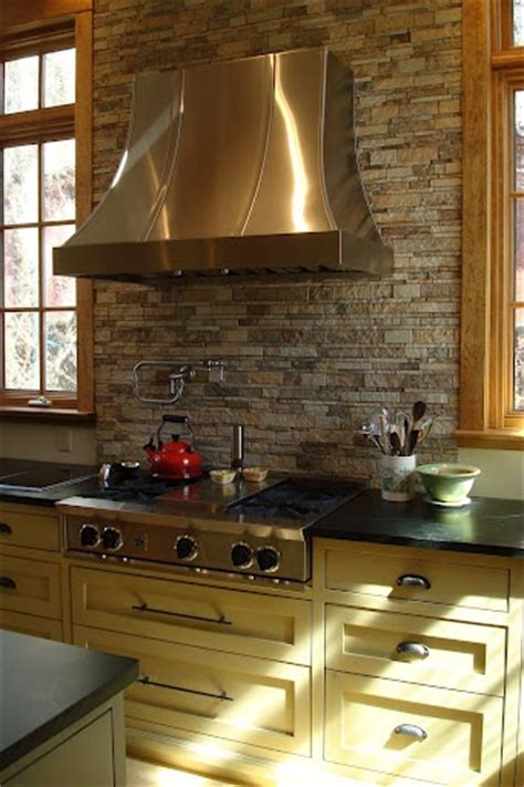 Rock Backsplash Kitchen Stacked Backsplash Studio Design Gallery Best Design
