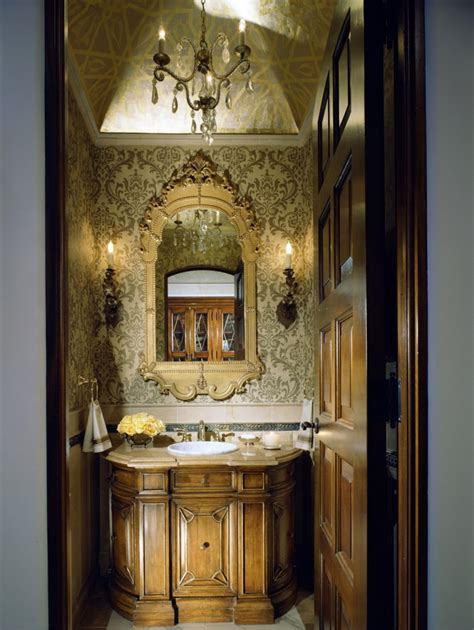 Gest Room by 15 Luxury Powder Room Designs