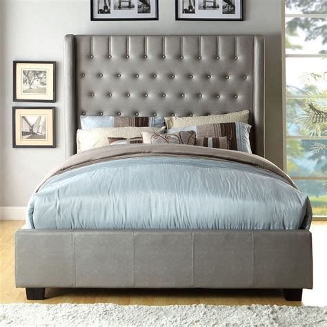 wingback upholstered bed catalog luxeo usa upholstered beds with wingback platform bed interalle com