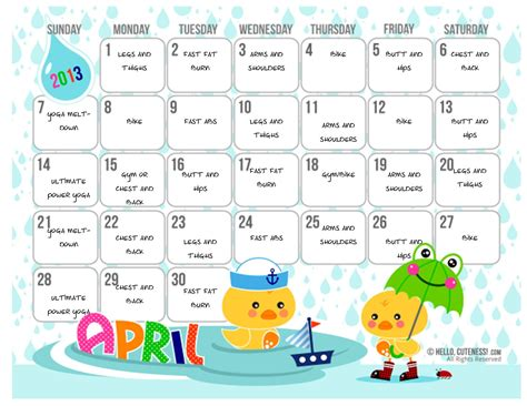 search results for cute calendar 2013 template