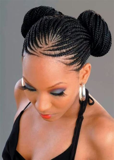 two buns hairstyle hair black black braided hairstyles with bun 10 american