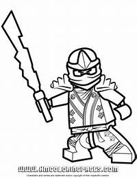 Lego Ninjago Zane KX Coloring Page  H &amp M Pages