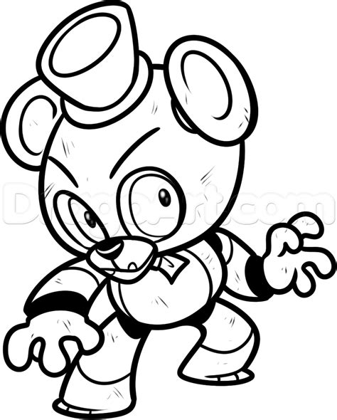 freddy five nights at freddys free colouring pages