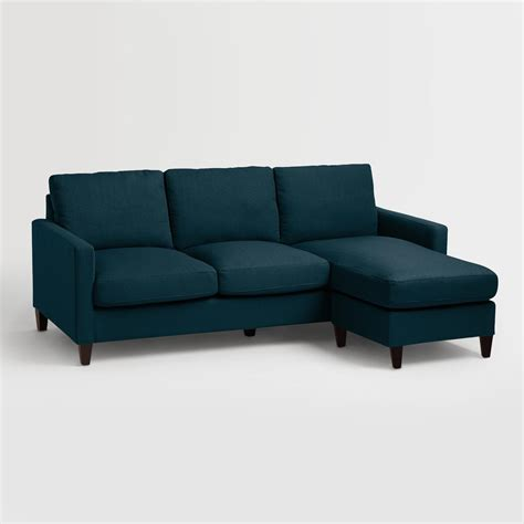 textured couch azure blue textured woven abbott sofa world market