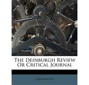 The Deinburgh Review Or Critical Journal Anonymous 9781175735034