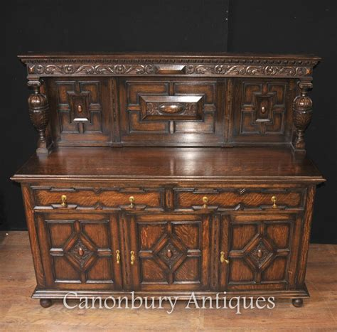 Kitchen Buffets Furniture Antique Oak Jacobean Sideboard Server Buffet Kitchen Furniture
