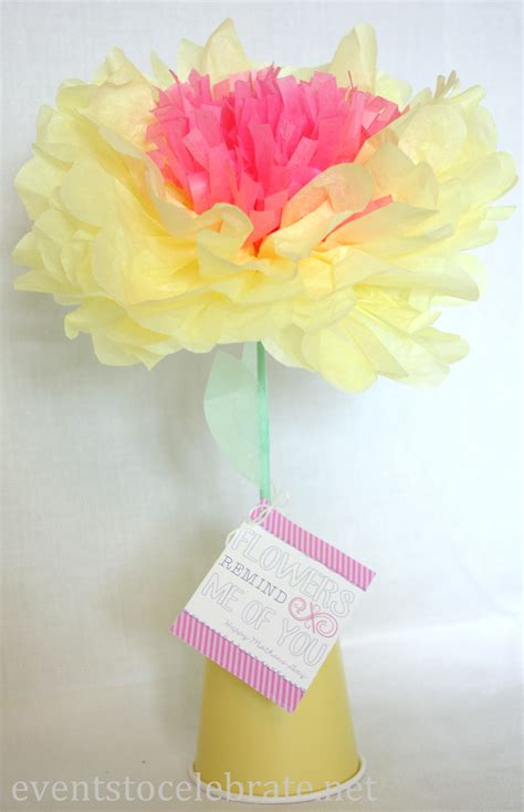 Flowers With Papers - inexpensive centerpieces events to celebrate