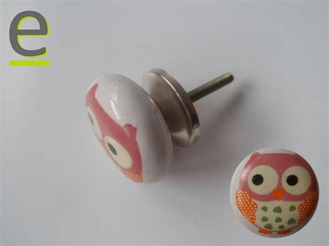 pomello ceramica pomello di ceramica per camerette decorazione con gufetto