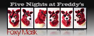 Five nights at freddy s foxy mask for sale sold by dexterouszombie
