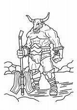 www.hugolescargot.com/coloriages/coloriage-mythologie-minotaure-arme ...