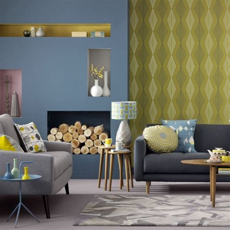 Yellow Blue And Green Living Room Blue And Yellow Living Room Living Room Colours