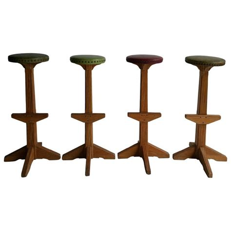 Bar Stool Sets Of 4 Set Of Four Quot Ranch Oak Quot Bar Counter Stools For Sale At 1stdibs