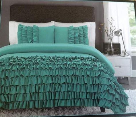 New Cynthia Rowley Twin Xl Comforter Set Ruffles Teal Cynthia Rowley Bedding Xl
