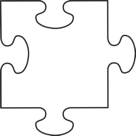 large blank puzzle pieces white puzzle piece clip art