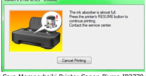 cara resetter canon pixma ix6560 cara memperbaiki printer canon pixma ip2770 rusak cara