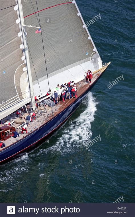 j class boats newport j class yacht quot velsheda quot during the j class regatta