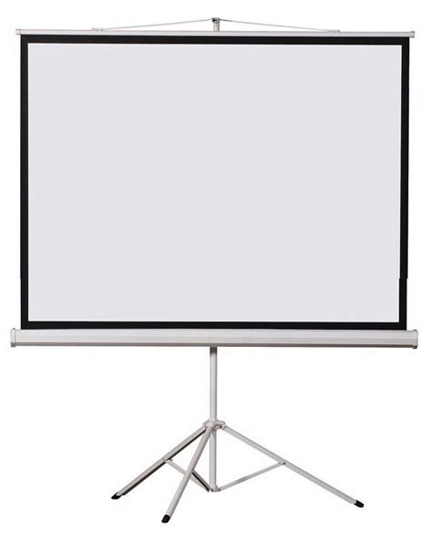 Simple Screen Tripod 120 4 3 Matte White 120 quot inch 4 3 244x183cm matte white foldable tripod stand projector screen buy projection