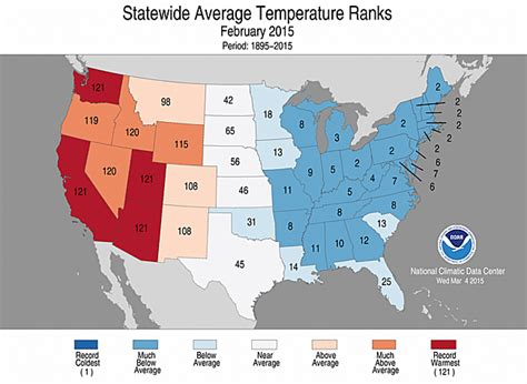 us temperature map february national climate report february 2015 state of the