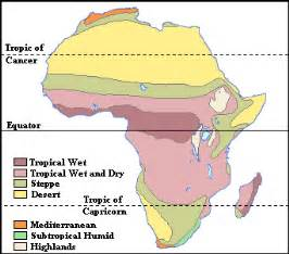 Climate Map Of Africa by The African Grassland