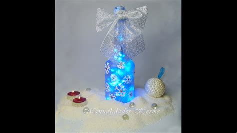 imagenes de navidad para decorar botellas como decorar una botella para navidad youtube