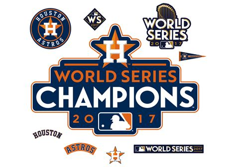 design home material world series houston astros 2017 world series chions logo wall decal