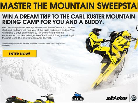 Ski Doo Sweepstakes - the ski doo spring tour sweepstakes
