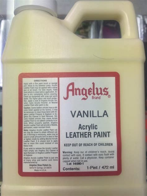 angelus paint on boost angelus vanilla acrylic leather paint 1 pint jwong boutique