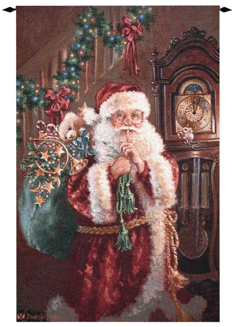 santa not a creature christmas tapestry wall hanging h53