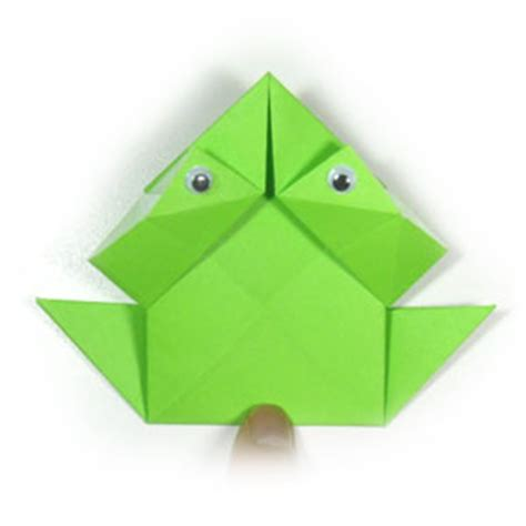 Traditional Origami Frog - how to make a traditional origami jumping frog page 11