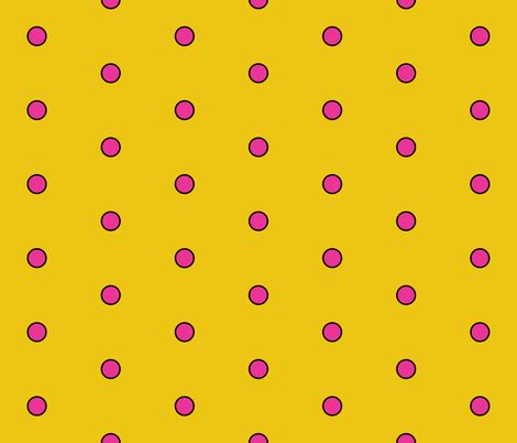 yellow with pink polka dots polka dots yellow pink fabric pumpkinbones spoonflower