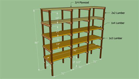 building food storage plan building storage shelves