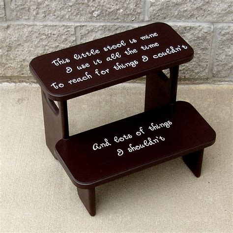 This Stool Is Mine by Espresso Brown This Stool Is Mine Childrens