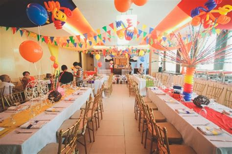 themed birthday party venues martin s philippine fiesta themed party venue setup