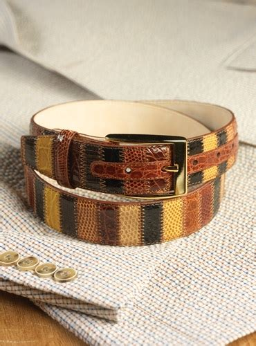 Patchwork Belt - patchwork belt with vertical strips