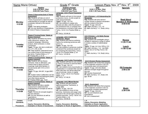 Lesson Plan 5th Grade 5th Grade Product Categories Tutor And Teacher Templateslesson Plan Fifth Grade Lesson Plan Template