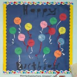 Happy birthday paper balloons bulletin board myclassroomideas com