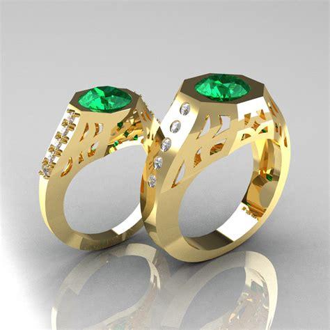 gentlemens modern edwardian 18k yellow gold 1 5 carat