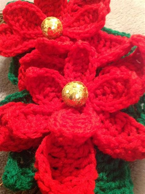 pattern crochet poinsettia free crochet pattern poinsettia crochet flower pinterest